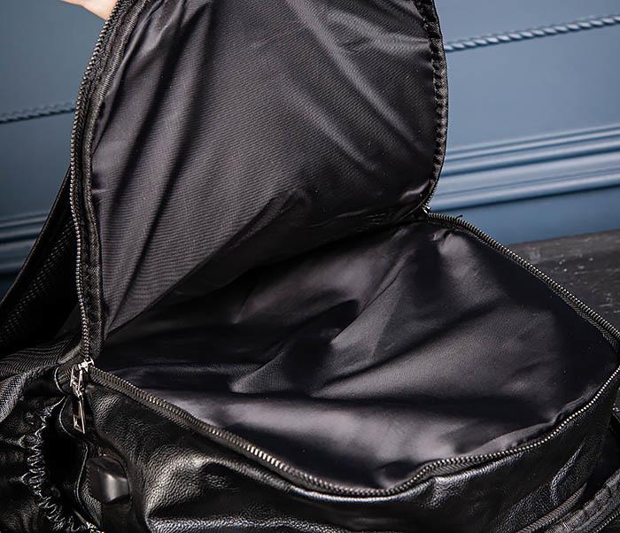 BAG527-1 Кожаный рюкзак с несколькими отделениями фото 15