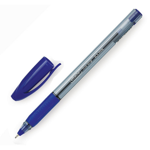 Ручка шариковая одноразовая Attache Glide Trio Grip синяя (толщина линии 0.5 мм)