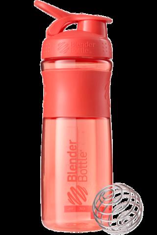 BlenderBottle SportMixer, Универсальная Спортивная бутылка-шейкер с венчиком.  Coral-коралловый 828 мл