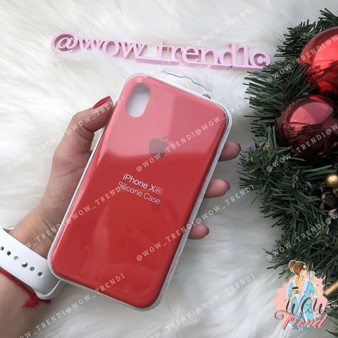 Чехол iPhone XR Silicone Case /red/ красный 1:1