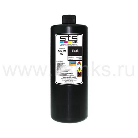 УФ - чернила STS для Agfa Jeti KM Black 1000 мл (UV Lamp)