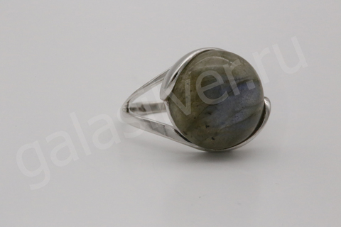 Кольцо с лабрадором из серебра 925