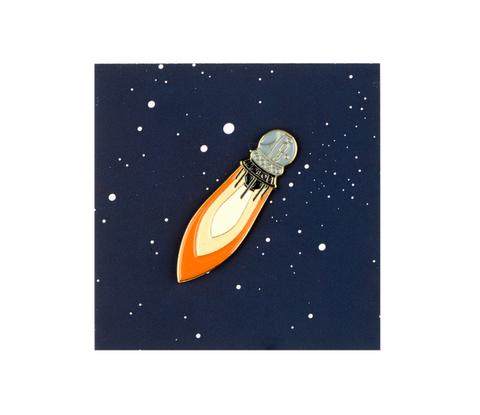 Значок металлический Спутник 55