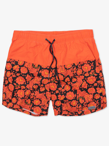 "Swim shorts ""Bright red khokhloma"""