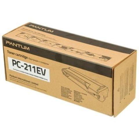 Тонер-картридж Pantum PC-211EV для Pantum P2200/P2207/P2507/P2500W/M6500/M6550/M6607, черный. Ресурс 1600 стр.