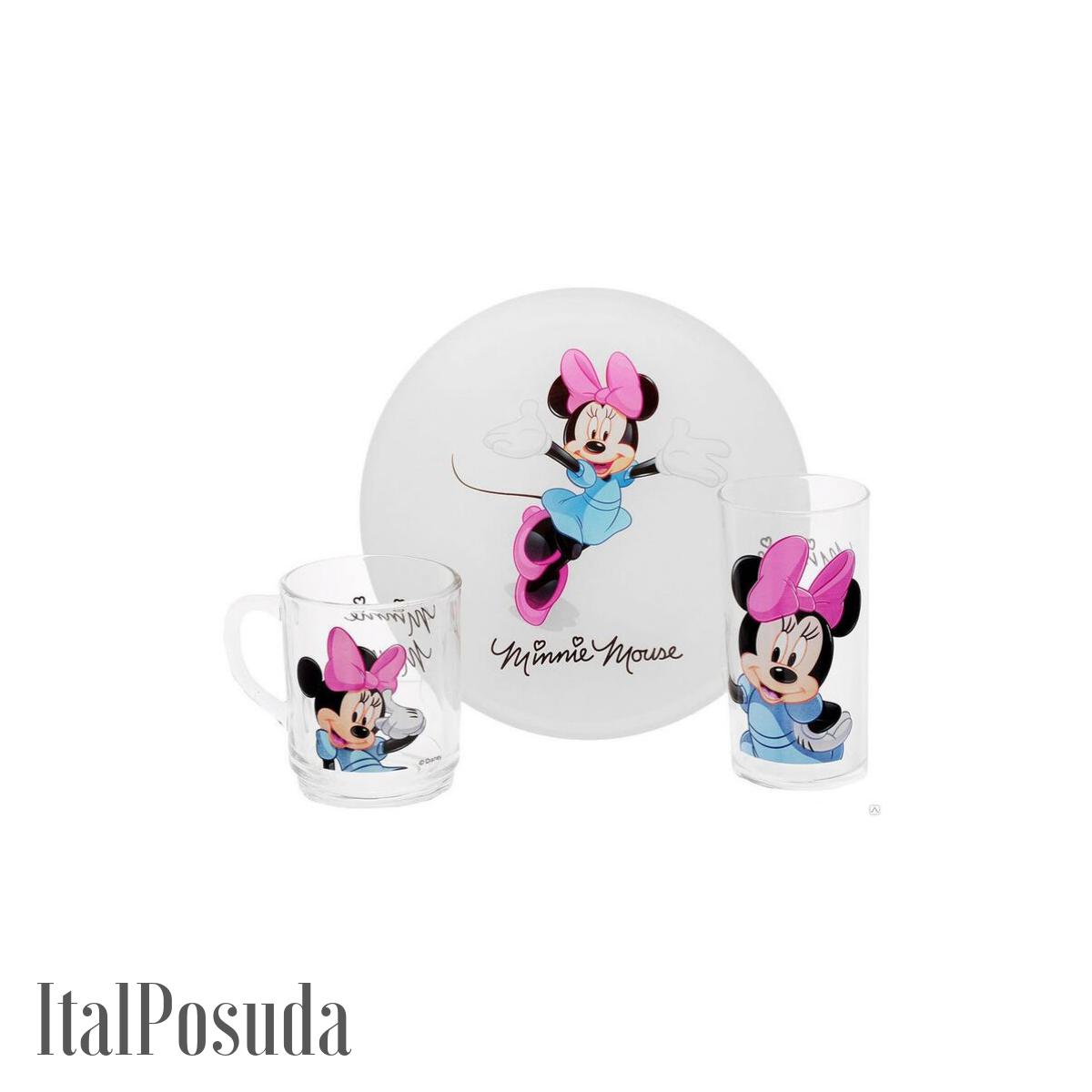 Набор детской посуды Luminarc Disney Minnie Colors (Дисней Минни Колорс), 3 предмета H5321