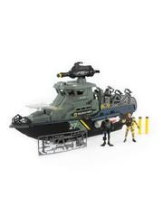 Chap Mei Игровой набор: Солдаты военно-морского флота на линкоре, с фигурками и ракетами (545011)