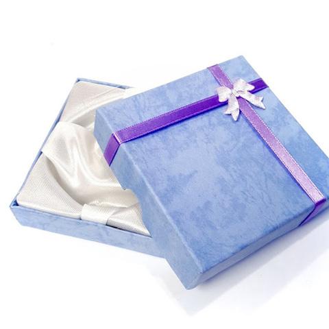 Подарочная коробка для браслета голубая