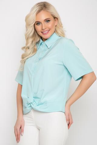 """<p><span>Модная рубашка в стиле """"смарт кэжуал"""" является одним из трендовых элементов вашего гардерода этой весной. Рубашка """"Лера"""" отлично сочетается с брюками,юбками разной длины, джинсами и шортами. В ней вы будите чувстовать себя женственно, модно и стильно. Рукав до логтя, ворот отложной с планкой на пуговицах. По переду декоративный элемент """"перевертыш"""". (Длины: 46-48=59см; 50=60см;52=62см)&nbsp;</span></p>"""