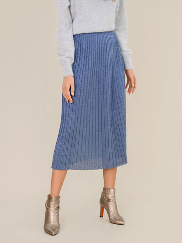 Женская юбка денимного цвета из вискозы - фото 4
