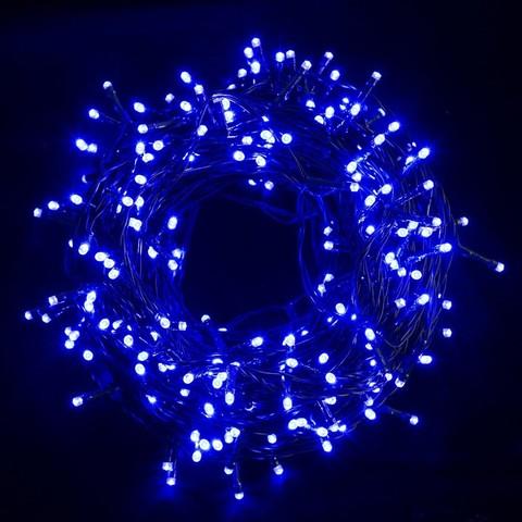 Гирлянда синяя нить 5 метров 50 лэд