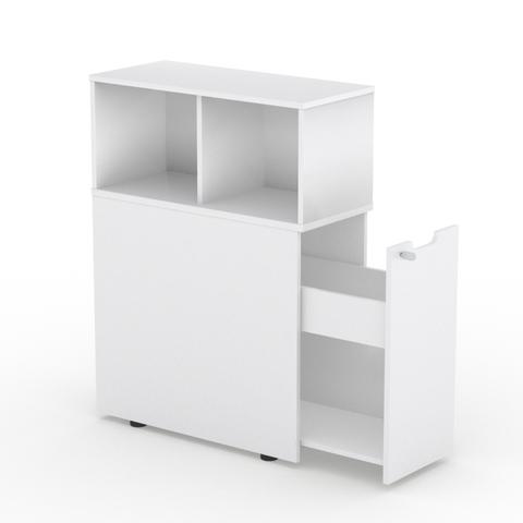 Шкаф с выдвижным ящиком и надстройкой