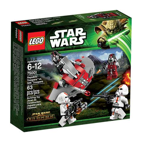 LEGO Star Wars: Солдаты Республики против воинов Ситхов 75001 — Republic Troopers vs Sith Troopers — Лего Стар варз Звёздные войны