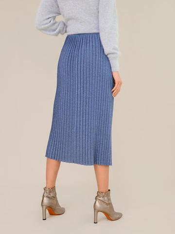 Женская юбка денимного цвета из вискозы - фото 3