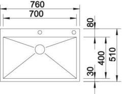 Мойка Blanco Zerox 700-IF/A схема