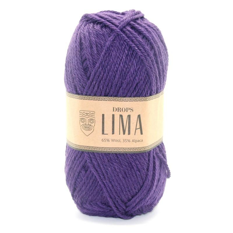 Пряжа Drops Lima 4377 темно-фиолетовый