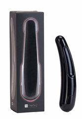 Чёрный многоскоростной дизайнерский вибромассажёр Saber - 17,5 см.