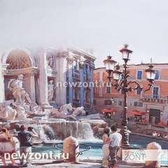 Зонт-трость женский Lamberti мосты Венеции, полуавтомат
