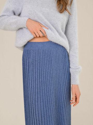 Женская юбка денимного цвета из вискозы - фото 5