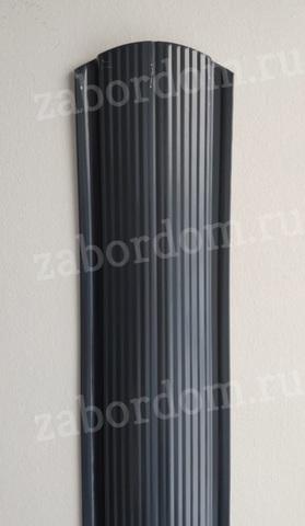 Евроштакетник металлический 110 мм RAL 7024 фигурный 0.5 мм