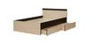 Кровать «Ольга-13» 1200 (венге/млечный дуб), ЛДСП, Фант-мебель