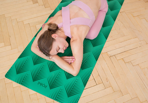 Легкий коврик для йоги Non slip Taiga Green 183*61*0,6 см