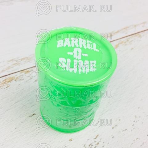 Лизун слайм в бочке Barrel O Slime большой Зелёный