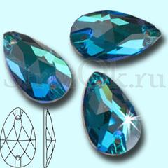 Drope Blue Zircon пришивные стеклянные стразы купить в интернет магазине Strazok.ru