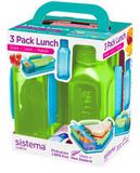 Набор Lunch: 2 контейнера и бутылка 475мл, артикул 1595, производитель - Sistema, фото 2