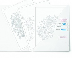 Раскраска-эскиз АF13-043-05 АРТформат ЦВЕТЫ