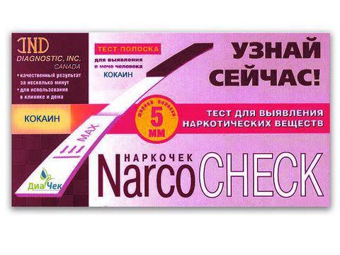 Тест-полоска NARCOCHEСK  для выявления в моче кокаина