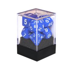 Набор разногранных синих кубиков