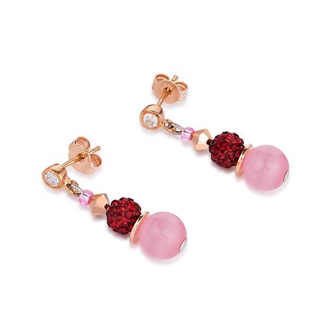 Серьги Coeur de Lion 4864/21-0319 цвет красный, розовый