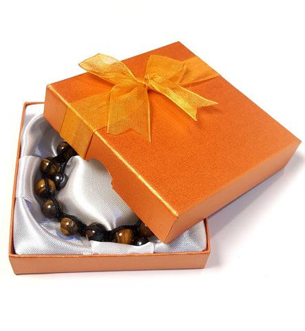 Подарочная коробка для браслета оранжевая