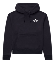 Толстовка Alpha Industries Small Logo Hoodie (Черная)