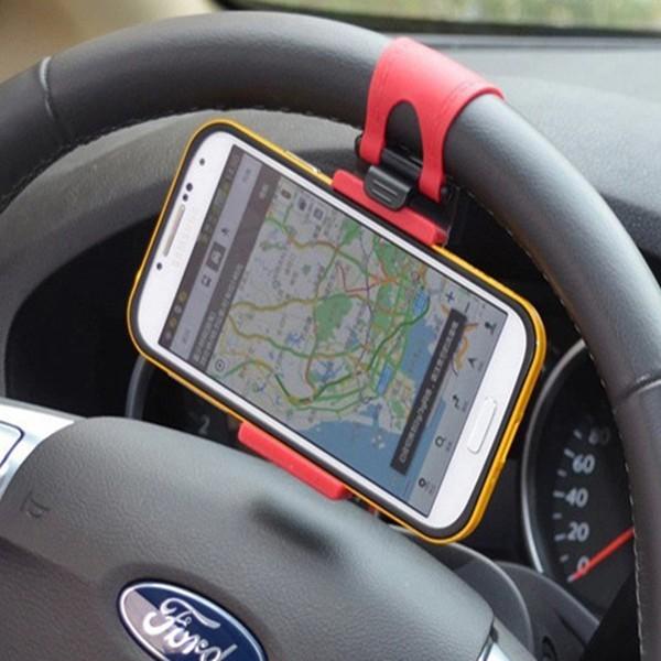 Раздвижной держатель телефона, 55-70 мм, на руль Красный-Чёрный фото
