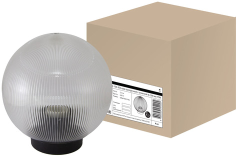 Светильник НТУ 02-100-303 шар прозрачный с огранкой d=300 мм TDM