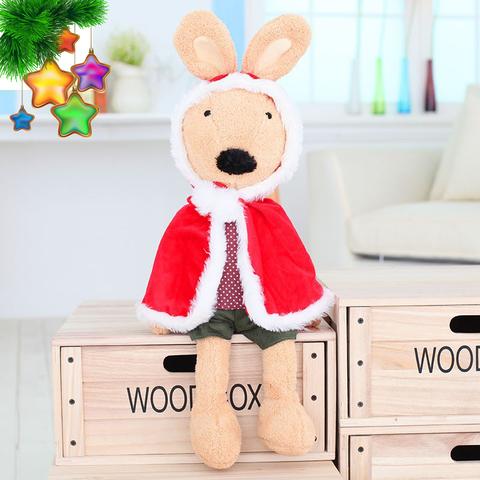 Rabbit Christmas red cloak plush toy - 60см