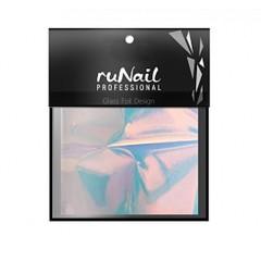 RuNail с эффектом битое стекло 4х100 см цвет голубой арт 3147