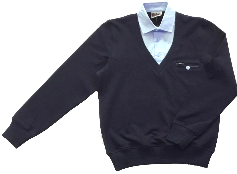 2569 джемпер с рубашкой-обманкой 4