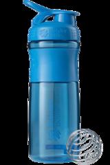BlenderBottle SportMixer, Универсальная Спортивная бутылка-шейкер с венчиком.  Cyan-бирюзовый 828 мл cat