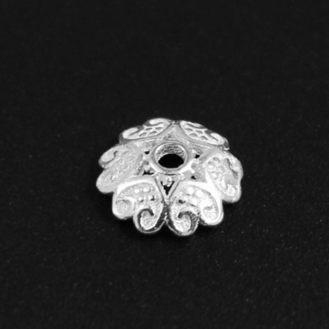 Шапочка Кармело 7,8 мм серебро 925 1 шт