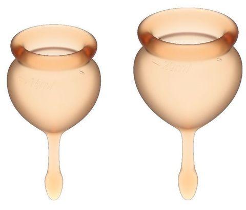 Набор оранжевых менструальных чаш Feel good Menstrual Cup