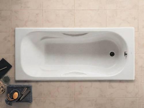 Чугунная ванна Roca Malibu 170x70, с п/ск покрытием, без ручек