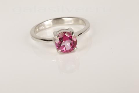 Кольцомс розовым топазом из серебра 925