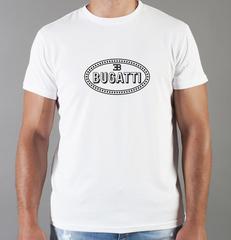 Футболка с принтом Bugatti (Бугатти) белая 0011