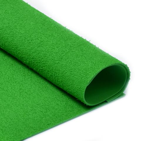 Фоамиран 2мм махровый. Цвет: зеленый
