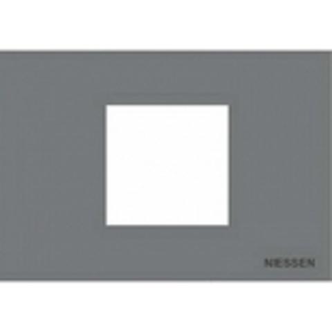 Рамка на 1 пост - 2 модуля, итальянский стандарт. Цвет Серебряный. ABB(АББ). Niessen Zenit(Ниссен Зенит). N2472 PL