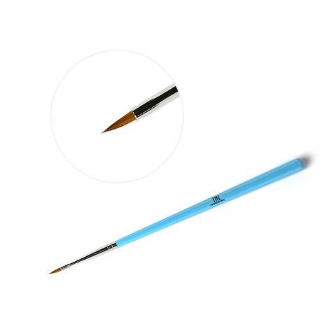 Кисть для рисования TNL тонкая (голубая)