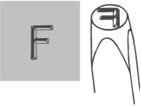 Набор штампов с цифрами, 10 предметов Dotstress 0 − 9